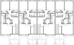 Fourplex House Plans  Story Townhouse  Bedroom Townhouse  PUpper Floor Plan for Fourplex house plans  story townhouse  bedroom townhouse