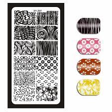 1Pcs <b>Nail Art</b> Stamping Plates Template Geometric Flowers Butterfly ...