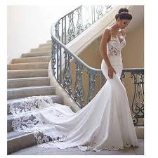 Boho Lace Mermaid Wedding Dress 2019 Sexy Front Split Lace ...
