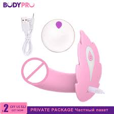 <b>BODYPRO</b> Female Butterfly Dildo Vibrator <b>Under Panties</b> wear ...