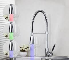 pull kitchen faucet color: nowadays even chrome kitchen faucet pull out has led lamp in many color it makes the water as in many colors such as blue green pink and so on