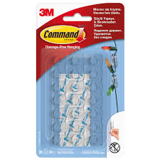 <b>Клипса для гирлянд Command</b>, цвет прозрачный, 20 шт. в ...