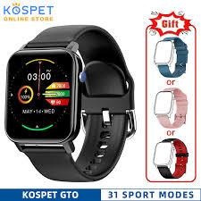<b>KOSPET GTO Smart</b> Watch Men IP68 waterproof Heart Rate Monitor ...