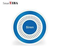<b>SmartYIBA</b> Wireless <b>Alarm</b> Siren Blue Flash/Strobe Siren For YB103 ...