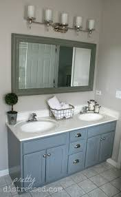 making bathroom cabinets: one  painted vanity one