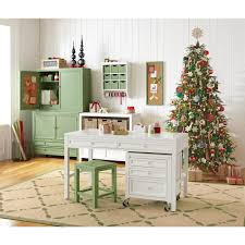 craft space 31 in h 2 drawer wood craft table in picket fence amazing home depot office chairs 4 modern
