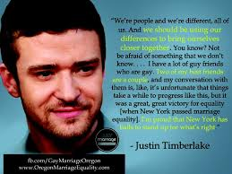 Justin Timberlake on gay marriage | Celebrity quotes | Pinterest