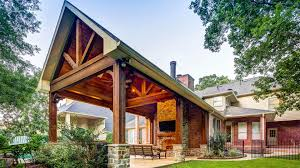 covered patio freedom properties: exposed truss creekstone outdoor living houston tx custom patio cover