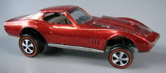 Automobile:<b>Hot Wheels</b> Red Custom Corvette - <b>Mattel</b>, Inc ...