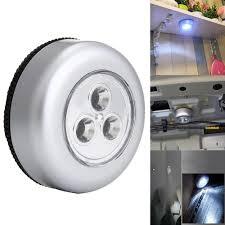 Under Cabinet Closet <b>Push Tap</b> Stick On <b>Lamp</b> 3LED 4 LED ...