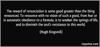 Image result for renunciation