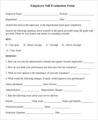 Sample Employee Self-Evaluation Form - 5+ Free Documents in PDF Sample Employee Self-Evaluation Form