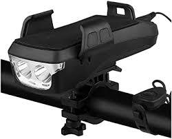 <b>Multifunctional</b> Solar Bicycle <b>Headlight</b> 4000mAh Bike Front Lamp ...