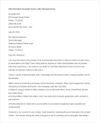 administrative assistant cover letter no experience executive assistant cover letter