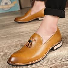 <b>Fashion</b> Genuine <b>Leather Men</b> Formal Shoes <b>British Style</b> Loafers ...