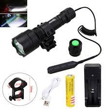 <b>Hunting</b> Torch Light <b>Laser Dot Sight</b> Scope <b>Tactical</b> Flashlight T6 ...