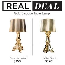 realdeal gold baroque table lamp bloom lamp gold ferruccio laviani