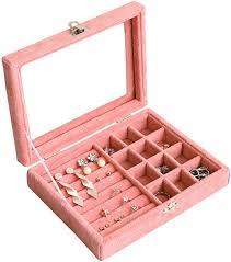 Women Earrings <b>Rings Jewelry Organizer</b> Case <b>Storage</b> Display ...