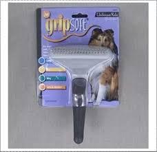 <b>Расческа</b>-<b>грабли JW Pet Grip</b> Soft Dog Fouble Row Undercoat ...