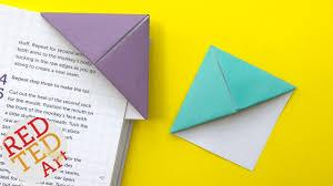 Easy Origami <b>Bookmark</b> Corner - How to make a Corner <b>Bookmark</b> ...