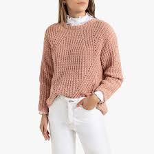 <b>Пуловер</b> с <b>круглым</b> вырезом из трикотажа с ворсом <b>La Redoute</b> ...