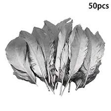 Vpang 50 Pcs Gold Dipped Natural Goose Feathers ... - Amazon.com