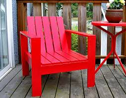 a stylish lounge chair for your patio just needs bold paint and a comfy pillow large armrests loungy recline easy to build special thanks to dowlerg build patio furniture