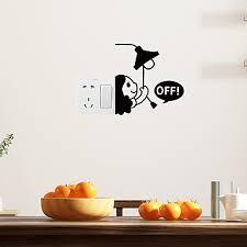 Lovely Little Girl <b>Light Switch Sticker</b> Removable PVC Wall <b>Sticker</b> ...