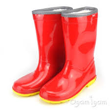 Image result for CHILDREN'S RED WELLINGTON BOOTS