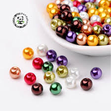 1Bag <b>4</b>/<b>6</b>/<b>8mm</b> Luster Pearlized Glass Pearl <b>Crystal</b> Jewelry Making ...