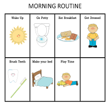 daily routine chart template selimtd daily routine chart template morning and nightime routine charts