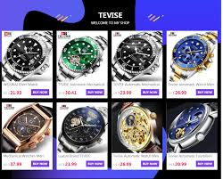 Online Shop <b>Tevise Men's Watches</b> Functional Dial Automatic ...