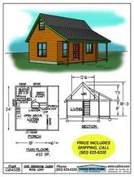 Drawing C B                  X      Cabin  Loft          sqft          Small Cabin Floor Plans   C B Cabin Plan Details     More for the measurements than anything else