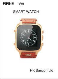 <b>W9 SMART WATCH</b> User Manual Hk Suncon .