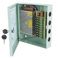 ebuybox 12V DC 10A <b>9 CH</b> CCTV BOXED POWER SUPPLY UNIT ...