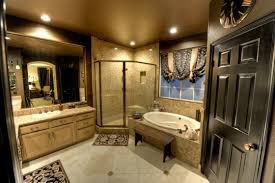 appealing contemporary master bathroom ideas applying ceramics flooring furnished with vanity drawers also large mirror and amazing bathroom ideas