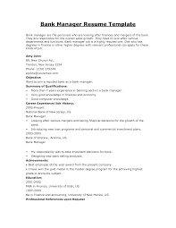 Sample Resume For Bankers Free Resume Example And Writing Download