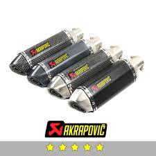 <b>51mm 61mm Universal</b> Akrapovic Exhaust <b>Motorcycle</b> Muffler Tube ...