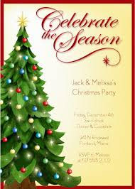 party invitations christmas party invitation template holiday   christmas party invitation template tree