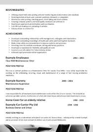 resume government position
