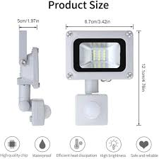 10W Security Lights with Motion Sensor,1000LM <b>Super</b> Bright LED ...