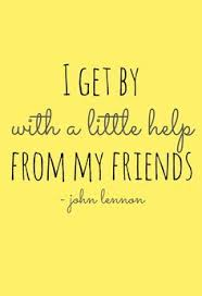 "Image result for ""I get by with a little help from my friends sheet music image"