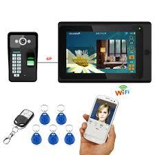 "<b>7</b>""<b>Wired/Wireless Wifi</b> Fingerprint RFID Video Door Phone Doorbell ..."