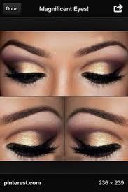 gold rose gold smokey eye beautiful for dark brown eyes