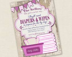 baby shower invitation diaper and wipes baby shower 128270zoom