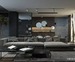 the main living area is fairly spacious with a huge comfortable sofa from minotti bachelor pad ideas