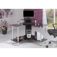 jual furnishings small corner computer desk with black glass wayfair uk amazing black glass office