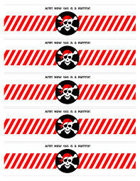 pirate themed birthday party printables party pirate party water bottle labels printable from jan issues issues issues issues howard to nest for less print them on these full sheet labels