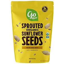 Go <b>Raw Sunflower</b> Seeds with Sea Salt, <b>Sprouted</b> & <b>Organic</b>, 14 oz ...