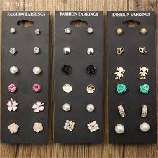 Claire <b>Fashion</b> Accessories Pearl Stud Earring Pack <b>Set 6 Pairs</b> ...